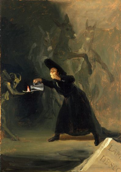 Goya, Francisco de: The Bewitched Man. Fine Art Print/Poster. Sizes: A4/A3/A2/A1 (00122)